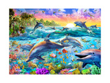 Tropical Dolphins Plakater af Adrian Chesterman