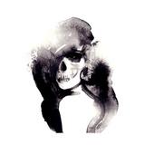 Woman Portrait .Abstract Watercolor .Fashion Background Affiches par Anna Ismagilova