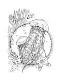 Jellyfishes and Marine Life Plakat autor xaxalerik