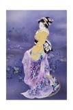 Skiyu Purple Robe Prints by Haruyo Morita