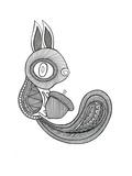 Animal Squirrel Art by Neeti Goswami