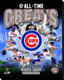 Chicago Cubs All Time Greats Stretched Canvas Print