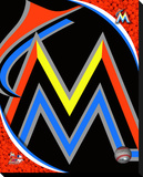Miami Marlins Logo Stretched Canvas Print