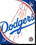 LA Dodgers Logo Stretched Canvas Print
