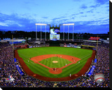 Kauffman Stadium Stretched Canvas Print