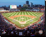 Wrigley Field Stretched Canvas Print