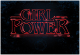 Girl Power (Horizontal Neon Glow) Print