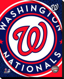 Washington Nationals Logo Stretched Canvas Print