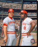 Johnny Bench / Joe Morgan Stretched Canvas Print