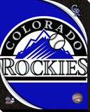 Colorado Rockies Logo Stretched Canvas Print