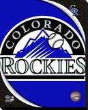Colorado Rockies Logo Stretched Canvas Print