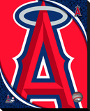 LA Angels Logo Stretched Canvas Print
