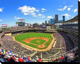 Target Field Stretched Canvas Print