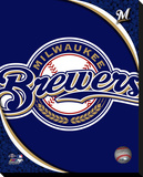 Milwaukee Brewers Logo Stretched Canvas Print