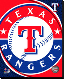 Texas Rangers Logo Stretched Canvas Print