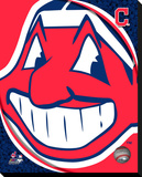 Cleveland Indians Logo Stretched Canvas Print