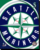 Seattle Mariners Logo Stretched Canvas Print