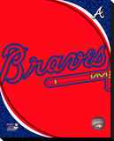 Atlanta Braves Logo Stretched Canvas Print