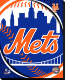 New York Mets Logo Stretched Canvas Print