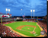 Great American Ballpark Stretched Canvas Print