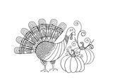 Thanksgiving Turkey Prints by Neeti Goswami