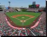 Angel Stadium of Anaheim Stretched Canvas Print