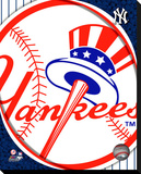New York Yankees Logo Stretched Canvas Print