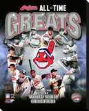 Cleveland Indians All Times Greats Stretched Canvas Print
