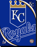 Kansas City Royals Logo Stretched Canvas Print