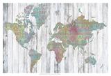 Boho Map II Posters by Jennifer Goldberger
