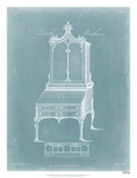 Chippendale Desk & Bookcase II Giclee Print by Thomas Chippendale