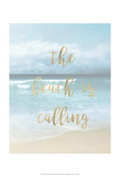 The Beach is Calling Prints by Emily Robinson