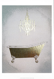 Metallic Foil Gilded Bath I Posters by Grace Popp