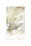 Gold Foil City Map New York Poster by  Vision Studio