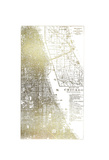 Gold Foil City Map Chicago Prints by  Vision Studio