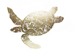 Gold Foil Sea Turtle II Poster by Grace Popp