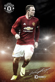 Manchester United- Rooney 16-17 Plakaty