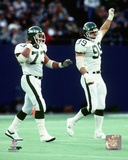 Joe Klecko & Mark Gastineau 1985 Action Photo