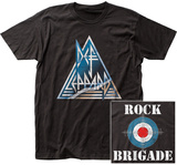Def Leppard- Rock Brigade (Front/Back) T-Shirt