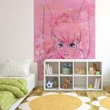 Disney Fairies - Pink Floral Tinker Bell Wallpaper Mural