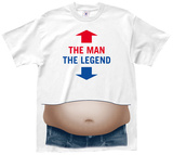 The Man the Legend Beer Belly T-Shirts