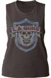 Juniors Muscle Tank: L.A. Guns- Vintage Logo Damen-Trägerhemden