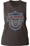 Juniors Muscle Tank: L.A. Guns- Vintage Logo Womens Tank Tops