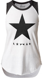 Juniors Sleeveless Raglan: David Bowie- Blackstar Tank Top