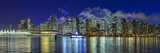 Vancouver Night Skyline Art by Manfred Kraus