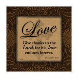 Love Print by Todd Williams