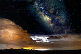Dark Skies and Distant Storm Photographic Print by Douglas Taylor