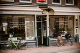 Amsterdam Storefront with Bikes Photographic Print by Erin Berzel