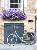 Brugge Door and Bicycle Photographic Print by George Johnson