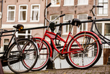 Amsterdam Red Bicycle Photographic Print by Erin Berzel
